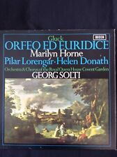 GLUCK: ORFEO & EURIDICE  1970 Decca 2LP SET443-4  Georg Solti, Marilyn Horne  NM