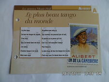 CARTE FICHE PLAISIR DE CHANTER ALIBERT LE PLUS BEAU TANGO DU MONDE