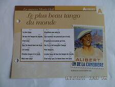 CARTE FICHE PLAISIR DE CHANTER ALIBERT LE PLUS BEAU TANGO DU MONDE