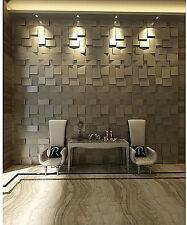 3-D Cubed Textured Wall Panels, Paintable - Set Of 10 Tiles - Covers 26.7 SF