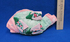 Hand Crafted Fish Shaped Fabric Bag Make Up Holder Mennonite Crafts Usa Made New