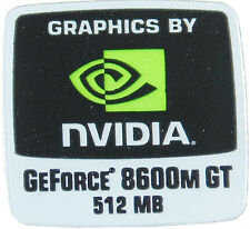 NVIDIA GEFORCE 8600M GT 512MB  STICKER LOGO AUFKLEBER 18x18mm (334)