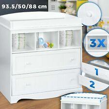 Wickelkommode Weiß Wickelschrank Wickeltisch Aufsatz Baby Möbel Kommode Regal