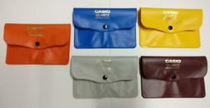 Rare Vintage Casio PVC Plastic Colourful Watch Pouch Case x5 Lot (TP392)