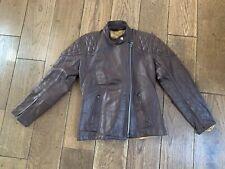 """Ladies Highwayman Motorcycle Leather Jacket Briwn 34"""" Small Vintage"""
