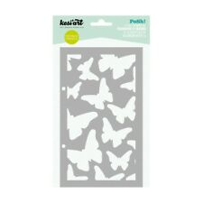 Pochoir Kesi'art posh PAPILLONS stencil masque scrapbooking art mixed média
