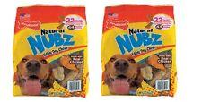 Nylabone Natural NUBZ Edible Dog Chews 22 Count, 2.6 lb Bag(2 pack)