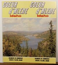 1960's Coeur d'Alene Idaho vintage Chamber of Commerce travel brochure b