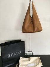 HALO of Manchester and Hong Kong Brown Leather Open Tote Bag
