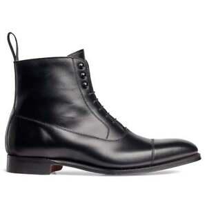 iuBlack Chelsea Leather Boots, Ankle High Boot, Men Dress Cap Toe Chelsea Boots