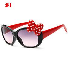 Anti-UV Sunglasses Kids Boys Baby Girls Cartoon 8 Color Goggle Glasses Bow Pop