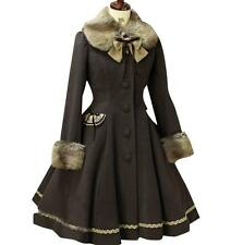 New Woolen Coat Kawaii Vintage Winter Merry Christmas Lolita Costume Ladies Coat