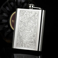 HONEST Embossed Arabesques 8OZ High Quality 304 Stainless Steel Hip Flask