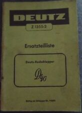 Deutz Schlepper D 40 Ersatzteilliste