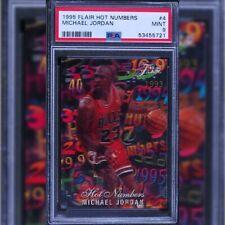 1995 flair hot numbers michael jordan psa 9