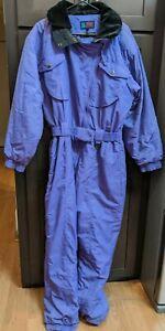 Women's Vintage SubZero Micro Lite Purple Snowsuit Ski Suit - 14