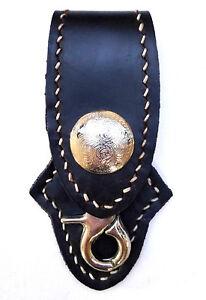 Biker Trucker Handmade Genuine Leather Belt Clip Keychain Key Holder western