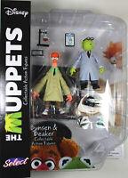 The Muppets ~ BUNSEN & BEAKER ACTION FIGURE SET ~ Diamond Select DST