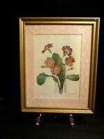 Redoute's Primrose Engraved By Bessin, Vintage Custom Framed By Britt's Prints