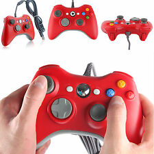 New USB Wired Controller Gamepad For Microsoft Xbox 360 Console PC Windows Red