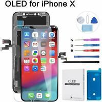 """Kit De Réparation Complet pour Ecran iPhone X Noir 5.8"""" OLED Écran Tactile"""