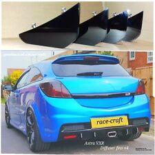Vauxhall Astra VXR diffuser fins/race fins/diffuser/VXR bumper fins/GLOSS vxr