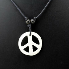 COLLIER PENDENTIF PEACE AND LOVE  NEPAL YAK A59