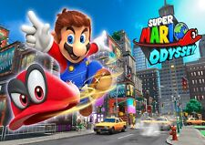 MARIO ODYSSEY NINTENDO SWITH GAME GLOSSY WALL ART POSTER (A1 - A5 SIZES)