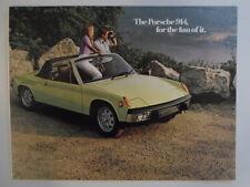 VOLKSWAGEN PORSCHE 914 orig 1973 USA Mkt Sales Brochure - VW 914S