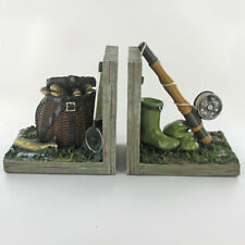 Fishing Rod / Tackle etc Themed Bookends.Sculpture / Figurine.New