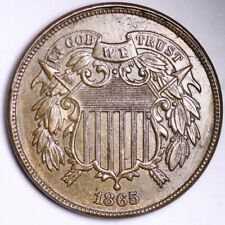 1865 Two Cent Piece CHOICE UNC FREE SHIPPING E160 AHM