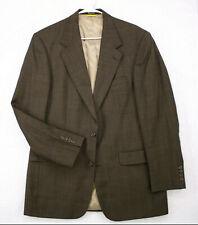 BILL BLASS BLACK LABEL Brown Glencheck Blazer Sport Coat Suit Jacket Men's 40L