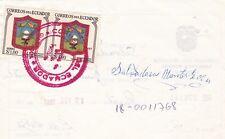 Ecuador 1089 PAAR PAIR LIBRANZA POSTAL  POSTAL Post Formular wappen pelileo