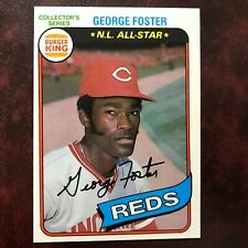 1980 Topps Burger King Pitch Hit & Run Set GEORGE FOSTER #15 REDS - NM/MINT+