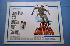"""Vintage Movie Poster,  """"Lost Command"""" (1966)"""
