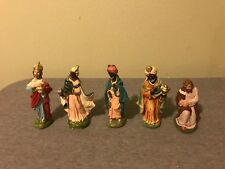 Lot of 5 Nativity Scene Figures Wise Men Hand Painted Japan Germany Vintage Rare