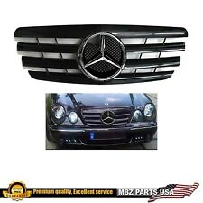 2000 2001 2002 E320 E500 E55 ALL BLACK CHROME STAR GRILLE AMG REPLACEMENT E NEW