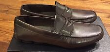 Prada Men's Brown Leather Penny Loafer Shoes Loafers Size 7 UK/8 US NIB