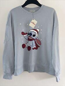Primark Disney Lilo and Stitch Christmas Jumper Sweater Top Size L 14-16 NEW