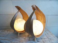 """2 Palmenblattlampen """"UBUD"""", natur, Nachttischlampe, Ambiente, Design,Deko, LED"""