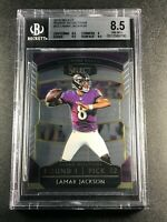 LAMAR JACKSON 2018 PANINI SELECT #12 ROOKIE SELECTIONS RC BGS 8.5 W/ 9.5 SUB