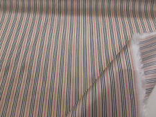 "Silky Golden Striped Viscose Italian Jacket,Suit,Dress Lining Fabric. 60"" Wide,"