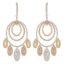Ovale Ohrschmuck aus Weißgold mit Diamanten