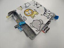 Baby Taggie -Tag Blanket Comforter Sensory Toy - Cartoon Animals - Minkee Back