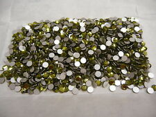 360 preciosa flatbacks,20ss olivine/foiled