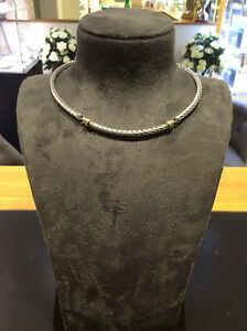 Silver and 18ct Yellow gold Collar necklace