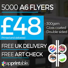5000 A6 300gsm Coated Art Board Flyers / Leaflets - Full Colour - Double Sided
