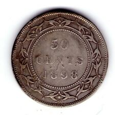 1898 Newfoundland Sterling Silver 50 cent Queen Victoria