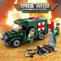 Military Ambulance Model Building Blocks With Soldier Figures Toys Bricks Set
