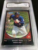 2013 BOWMAN CHROME DRAFT PROSPECT - BLACK WAVE REFRACTOR - MIGUEL SANO Graded 10